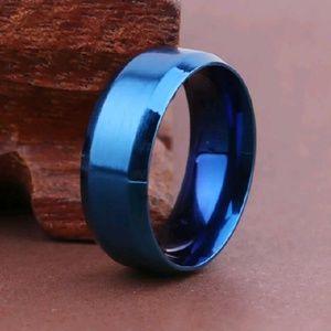 8mm Stainless Steel Titanium Band Ring Men women